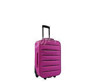 Doudone Maleta de 2 ruedas, con estructura flexible de polyester de color rosa, medida de 56 centímetros 56cm