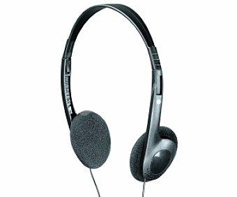 Selecline Auriculares tipo Diadema (producto económico alcampo), negro, con cable LX912