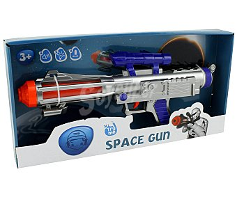 PRODUCTO ECONÓMICO ALCAMPO Pistola Espacial Electrónica con Luces y Sonidos 1 Unidad