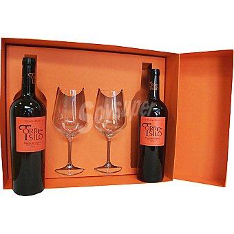 Cillar de Silos Torresilo vino tinto reserva D.O. Ribera del Duero con regalo de 2 copas Estuche 2 botellas 75 cl