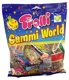 Trolli Gominolas surtidas (envueltos mini paquetes individuales) Paquete de 250 g