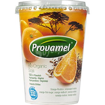 SANTIVERI PROVAMEL Bio Soya Yofu Alternativa de soja al yogur sabor naranja y roiboo 4 unidades envase 500 g 4 unidades