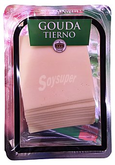 Holland Corona Queso barra lonchas gouda tierno  Paquete de 300 g