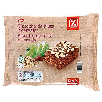 DIA Bizcocho de fruta y cereales estuche 240 gr 6 uds