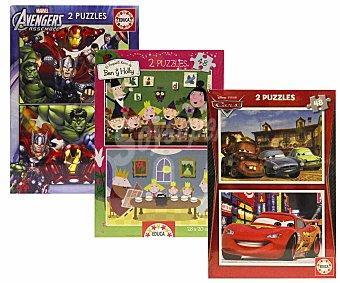 EDUCA Packs de 2 puzzles infantiles de 48 piezas de 28x20 centímetros 1 Unidad