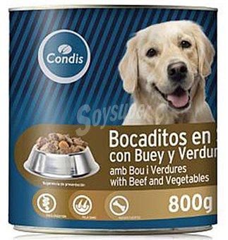 Condis Bocaditos perro Buey y verduras 800 g