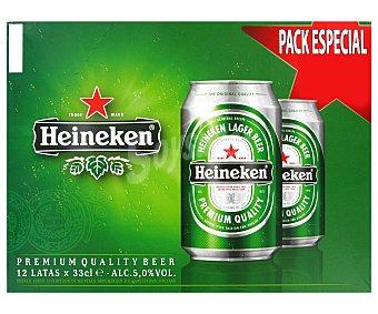 Heineken Cerveza holandesa rubia Pack 12 x 33 cl