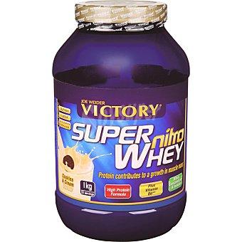 VICTORY Super Nitro Whey Suplemento soluble sabor cookies&cream aislado de proteína de suero Envase 1 kg