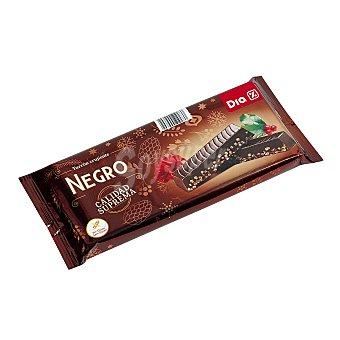 DIA Turrón crujiente chocolate negro Estuche 300 gr