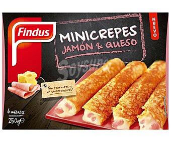 Findus Mini crepes de jamón-queso Caja 250 g