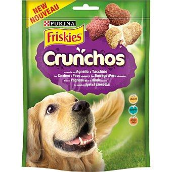 FRISKIES CRUNCHOS Snacks para perros con sabor cordero y pavo bolsa 110 g Bolsa 110 g