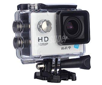 NK AC3056-FDB Videocámara deportiva full HD, 12 Megapixeles, resistente al agua, wifi, hdmi, usb, color blanco