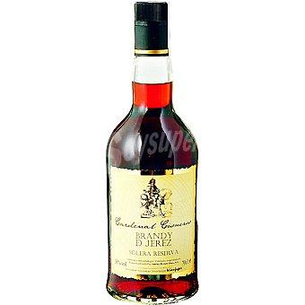 CARDENAL CISNEROS Brandy Solera reserva elaborado para grupo El Corte Inglés Botella 70 cl