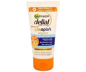 Delial Garnier Leche solar para pieles claras que se broncean fácilmente, con factor protección 30 (alta) y resistente al sudor y al agua 50 mililitros