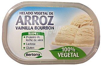 BERTONA Helado tarrina de arroz vainilla bourbon (100% vegetal) Tarrina 1L
