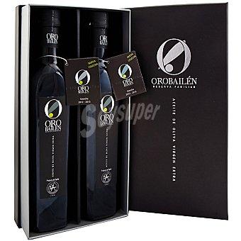 ORO BAILEN Reserva Familiar Aceite de oliva virgen extra Estuche 2 botellas 500 ml