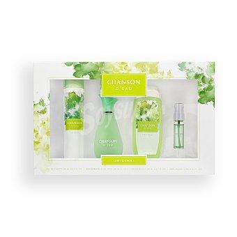 Chanson D'Eau Lote mujer eau toilette vaporizador 100 ml + gel baño 200 ml + desodorante 200 ml + eau toilette vaporizador mini 15 ml U