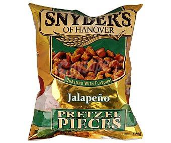 Snyder's Pretzel con sabor a jalapeños Bolsa de 125 gramos