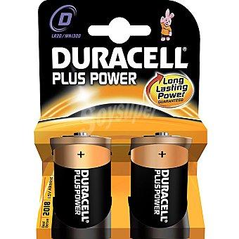 Duracell LR20 D pilas alcalinas Plus Power blister 2 unidades 2 unidades