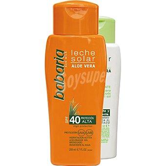 Babaria Leche solar FP-40 con aloe vera frasco 200 ml+ regalo after sun frasco 150 ml Frasco 200 ml