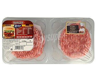 Roler Burger meat de cerdo 4 x 80 gr