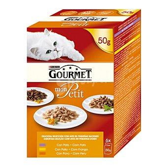 Bon Menu Comida para gatos pollo pack 6x50 gr