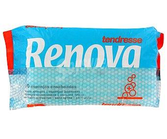 RENOVA Esponjas jabonosas envase 10 unidades