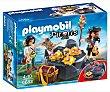 Escenario de juego Escondite del tesoro pirata, incluye 2 figuras, Piratas 6683 playmobil 6683 Escondite  Playmobil Piratas