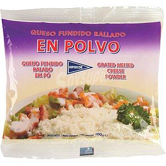 Hipercor queso fundido rallado en polvo bolsa 100 g