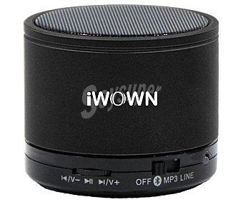 IWOWN SPK-2 Mini altavoz por batería con Bluetooth, micrófono incorporado, conector Jack 3.5mm, sintonizador de radio FM, lector de tarjetas microsd, color negro