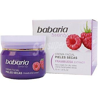 BABARIA Twenty Crema facial hidratante 24h con extracto de Frambuesa para pieles secas tarro 50 ml Tarro 50 ml