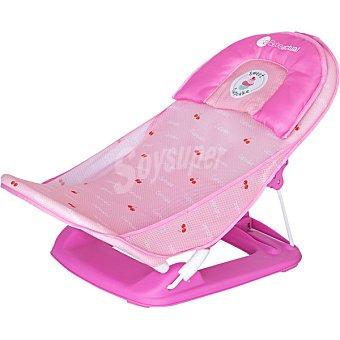 Asalvo Tumbona de baño para bebé con ventosas en color rosa 1 Unidad