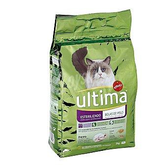 Ultima Affinity Alimento para gatos esterilizados rico en pavo Bolsa 3 kg