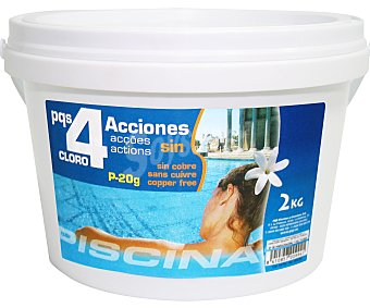 Pqs Tratamiento 4 funciones (desinfectante, algicída, floculante y antical) en tabletas de 20 gramos 2.5 kilogramos