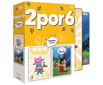 Series de preescolar en 2 Dvd, Pocoyo vol. 5 y Heidi vol. 6. Serie en Dvd. Género: infantil, animación. Edad: TP