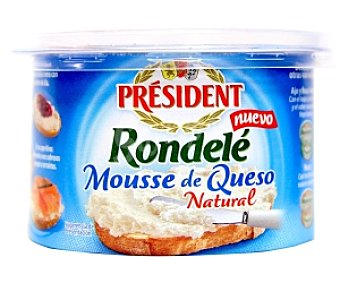 PRESIDENT Mousse de queso natural Tarrina de 100 gramos