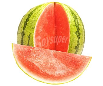 Fruta Sandía rayada mini sin pepitas 1 unidad