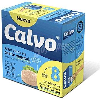 Calvo Atún claro en aceite Girasol Pack 8x80 g