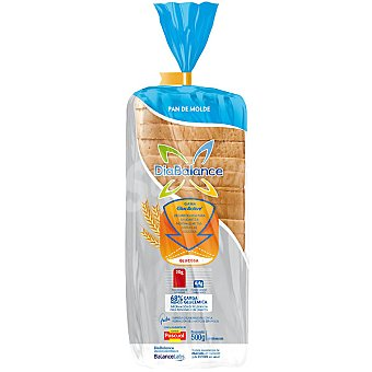 DiaBalance Pascual pan especial de molde al gluten (14%) ayuda normalizar los niveles de glucosa en sangre Bolsa 500 g