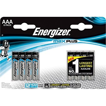 Energizer Max Plus pila AAA LR-3 blister 8 unidades blister 8 unidades