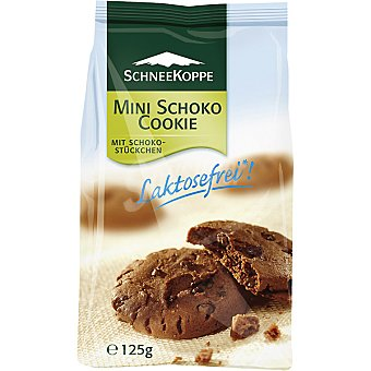 SCHNEEKOPPE mini galletas de chocolate sin lactosa envase 125 g