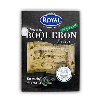 Royal Boquerón con ajo y perejil en aceite de oliva envase 80 gr Envase 80 gr