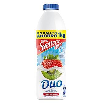 Yogur líquido desnatado 0% m.g. 0% azúcares añadidos con fresa y kiwi Botella 1 l