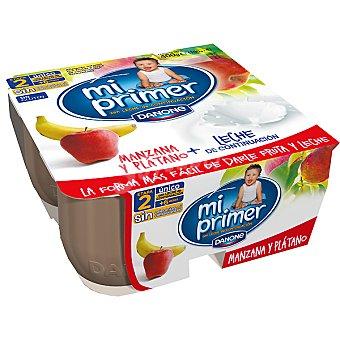 Danone Mi Primer Danone Yogur con leche de continuación con manzana y plátano Pack 4 unidades 100 g