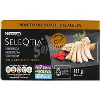 Eroski Seleqtia Ventresca de Bonito en aceite oliva Lata 115 g