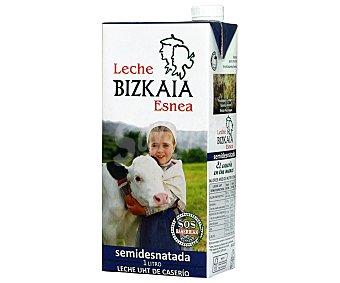 Bizkaia Leche semidesnatada de Vizcaya de vacas de caserio 1 l