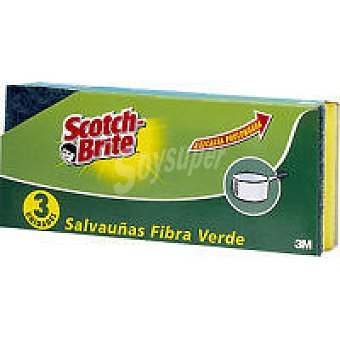 Scotch Brite Esponja verde Pack 3 unid