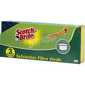 Scotch Brite Esponja verde Pack 3 unid