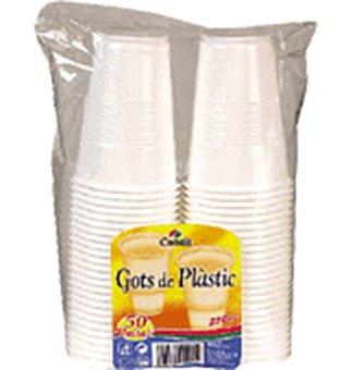 Condis Vasos blanco plástico 50u (22 cl cada vaso)