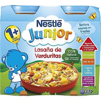 Junior Nestlé Tarrito lasaña de verduritas 100% natural Pack 2 envase 200 g